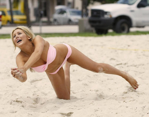 Beach Volleyball is so totally a sport. Even when done by a castmember of The Hills.